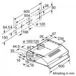 Onderbouw afzuigkap Bosch DUL62FA21