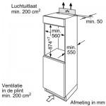 Inbouw koelkast Bosch KIL18NSF0