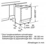 Volledig geïntegreerde vaatwasser Bosch SBV46IX10N