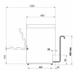 Afwasautomaat professioneel Smeg UD505DS