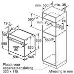 Oven inbouw Bosch HBG3780S0