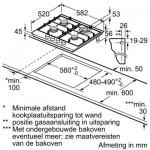 Gaskookplaat Siemens iQ500 EC6A5HB90N